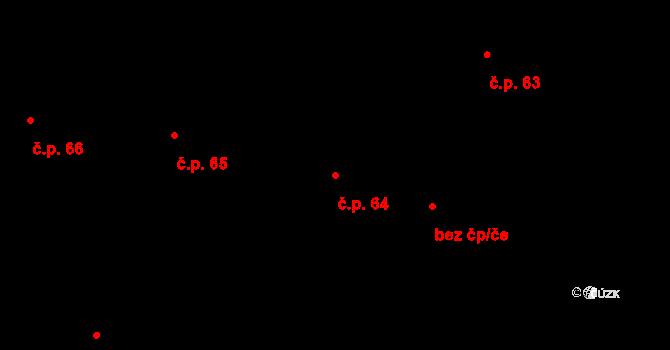 Trnová 64 na parcele st. 271 v KÚ Trnová u Jíloviště, Katastrální mapa