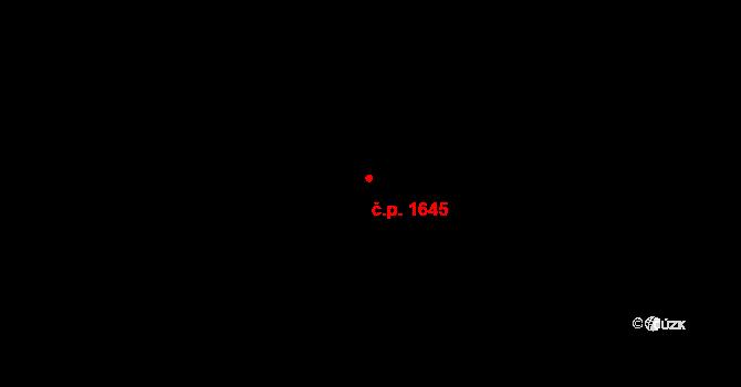 Chodov 1645, Praha na parcele st. 2673 v KÚ Chodov, Katastrální mapa