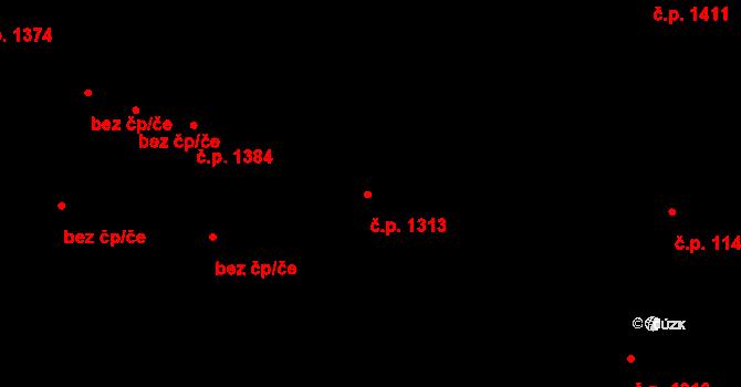 Slezská Ostrava 1313, Ostrava na parcele st. 1743/1 v KÚ Slezská Ostrava, Katastrální mapa