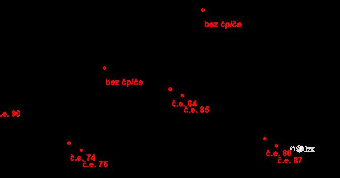 Malé Březno 84 na parcele st. 104/5 v KÚ Malé Březno, Katastrální mapa