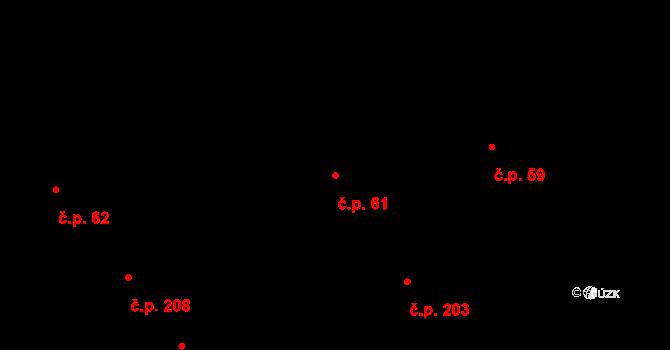 Veveří 61, Brno na parcele st. 379 v KÚ Veveří, Katastrální mapa