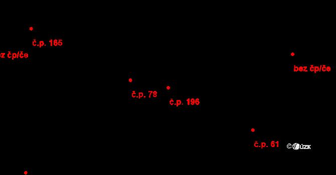 Studánka 196 na parcele st. 79/2 v KÚ Studánka u Tachova, Katastrální mapa