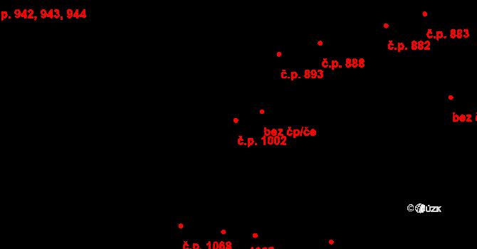 Újezd u Brna 1002 na parcele st. 1632/2 v KÚ Újezd u Brna, Katastrální mapa