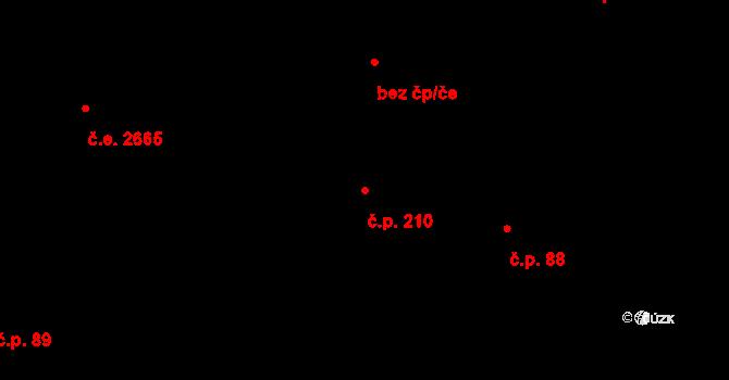 Souš 210, Most na parcele st. 203/2 v KÚ Most II, Katastrální mapa