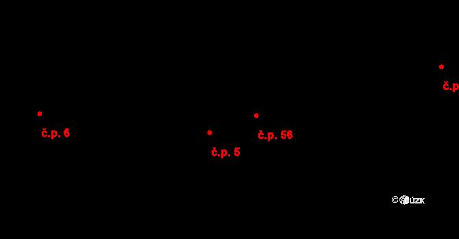 Pístov 5, Jihlava na parcele st. 77/1 v KÚ Pístov u Jihlavy, Katastrální mapa