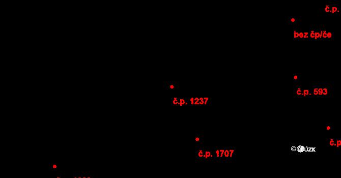 Kyje 1237, Praha na parcele st. 1765/2 v KÚ Kyje, Katastrální mapa