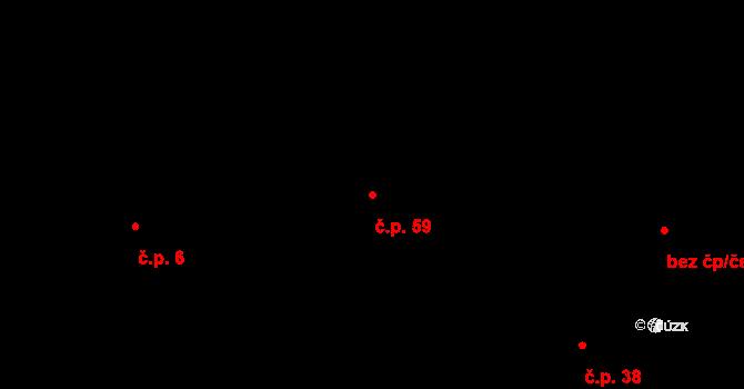 Mlázovy 59, Kolinec na parcele st. 26 v KÚ Mlázovy, Katastrální mapa