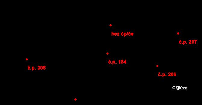 Davle 184 na parcele st. 699 v KÚ Davle, Katastrální mapa