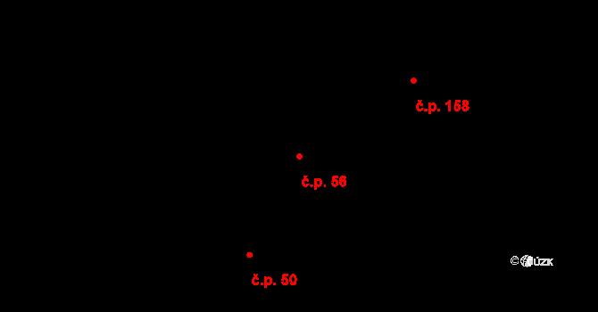 Dražkovice 56, Pardubice na parcele st. 283 v KÚ Dražkovice, Katastrální mapa