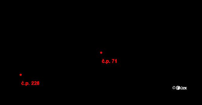 Krásné Loučky 71, Krnov na parcele st. 321 v KÚ Krásné Loučky, Katastrální mapa