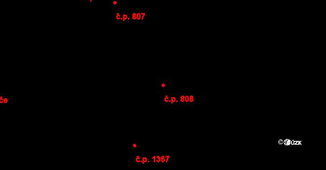 Nové Město 808, Praha na parcele st. 2247 v KÚ Nové Město, Katastrální mapa
