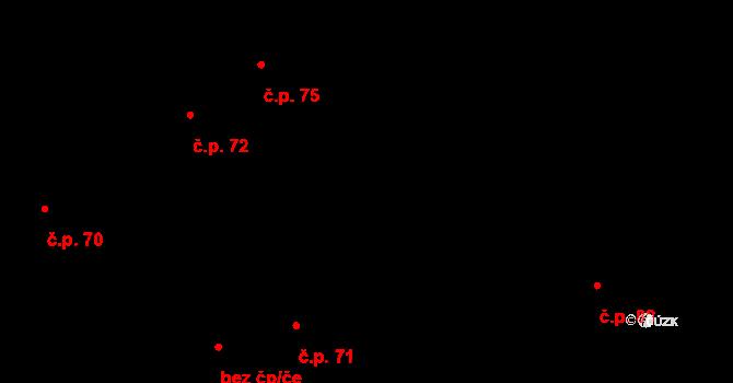 Staré Hutě 10 na parcele st. 168/2 v KÚ Staré Hutě na Moravě, Katastrální mapa