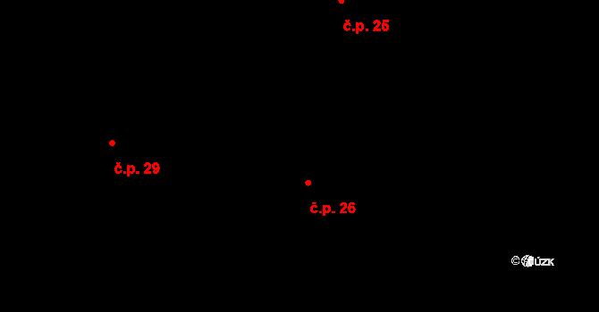 Horní Ostrovec 26, Ostrovec na parcele st. 33 v KÚ Horní Ostrovec, Katastrální mapa