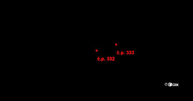 Zásada 332 na parcele st. 478 v KÚ Zásada, Katastrální mapa