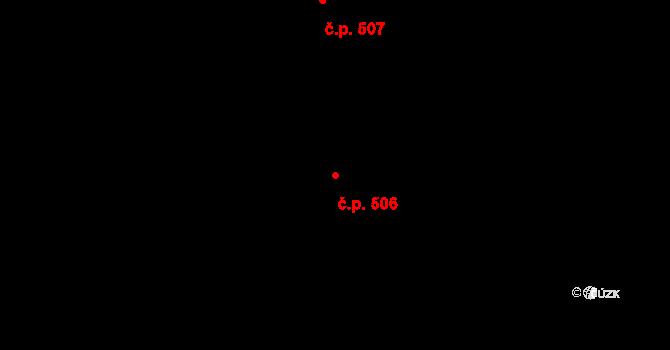 Velešín 506 na parcele st. 1062 v KÚ Velešín, Katastrální mapa