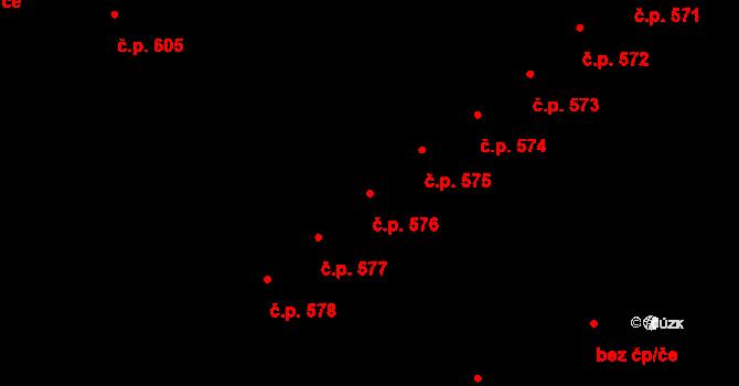Lednice 576 na parcele st. 234 v KÚ Lednice na Moravě, Katastrální mapa