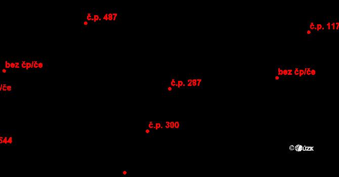 Řevničov 287 na parcele st. 322 v KÚ Řevničov, Katastrální mapa