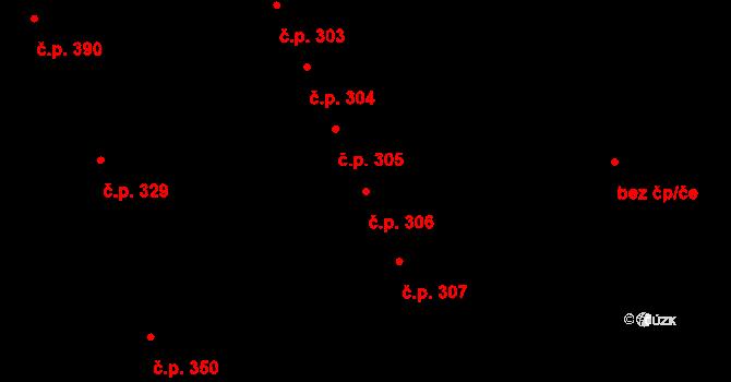 Mladcová 306, Zlín na parcele st. 569 v KÚ Mladcová, Katastrální mapa