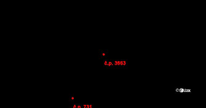 Zlín 3663 na parcele st. 4024 v KÚ Zlín, Katastrální mapa