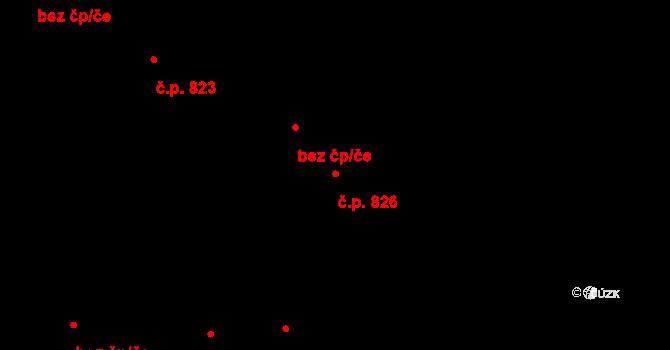 Svítkov 826, Pardubice na parcele st. 1017 v KÚ Svítkov, Katastrální mapa