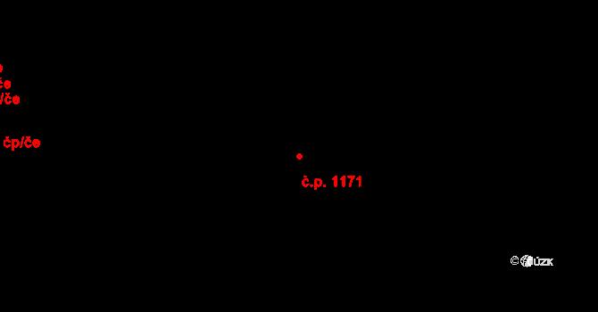 Braník 1171, Praha na parcele st. 2612/69 v KÚ Braník, Katastrální mapa