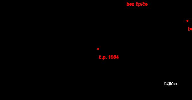 Modřany 1984, Praha na parcele st. 3835/104 v KÚ Modřany, Katastrální mapa