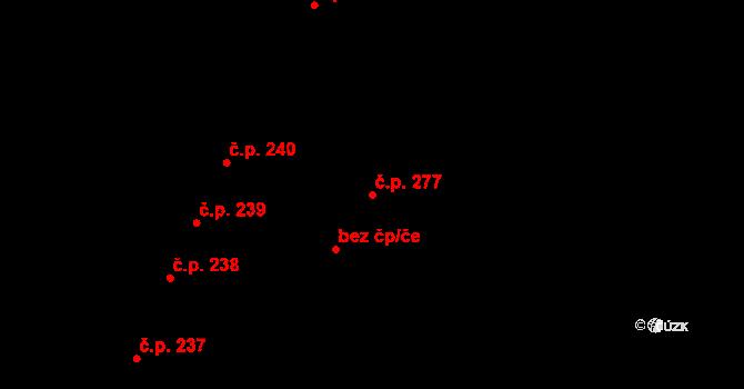 Vysoké Mýto-Město 277, Vysoké Mýto na parcele st. 254/2 v KÚ Vysoké Mýto, Katastrální mapa