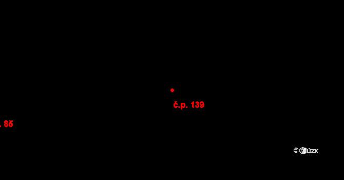 Dubno 139 na parcele st. 314/23 v KÚ Dubno, Katastrální mapa
