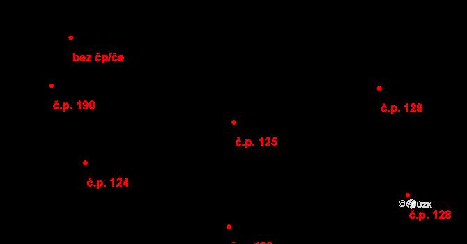 Staré Hodějovice 125 na parcele st. 328/27 v KÚ Staré Hodějovice, Katastrální mapa