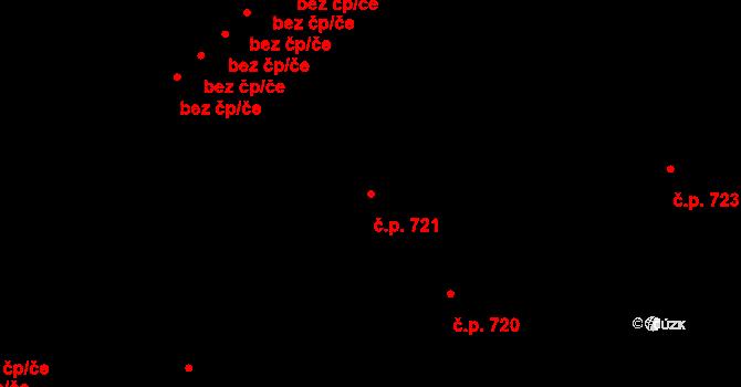 Bojkovice 721 na parcele st. 916 v KÚ Bojkovice, Katastrální mapa