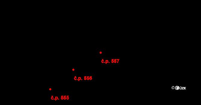 Polešovice 557 na parcele st. 791 v KÚ Polešovice, Katastrální mapa