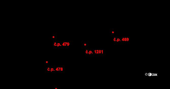 Horní Suchá 1281 na parcele st. 377/2 v KÚ Horní Suchá, Katastrální mapa