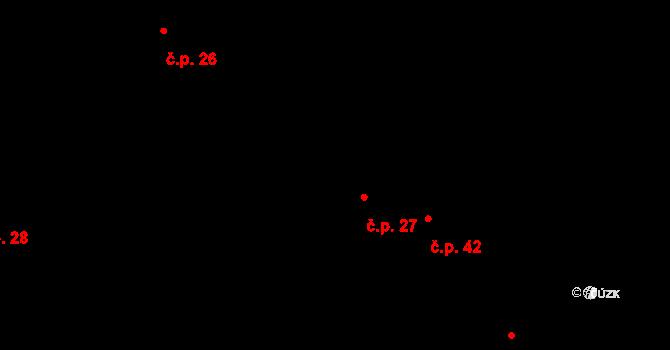 Horní Ostrovec 27, Ostrovec na parcele st. 34/1 v KÚ Horní Ostrovec, Katastrální mapa