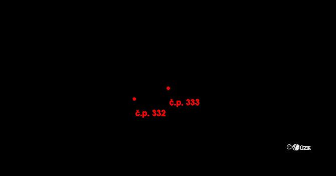 Zásada 333 na parcele st. 479 v KÚ Zásada, Katastrální mapa