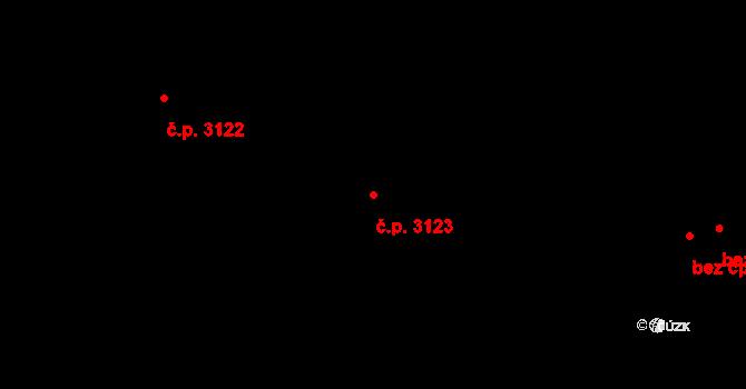 Smíchov 3123, Praha na parcele st. 5019/7 v KÚ Smíchov, Katastrální mapa