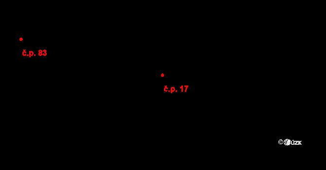 Nová Pec 17 na parcele st. 811/5 v KÚ Nová Pec, Katastrální mapa