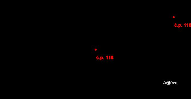 Studánka 118, Varnsdorf na parcele st. 208 v KÚ Studánka u Rumburku, Katastrální mapa