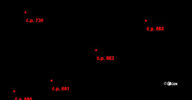 Nové Město 682, Praha na parcele st. 2009 v KÚ Nové Město, Katastrální mapa