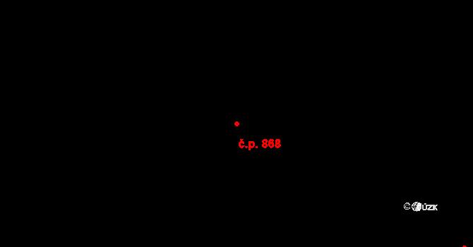 Hradec Králové 868 na parcele st. 1024 v KÚ Hradec Králové, Katastrální mapa