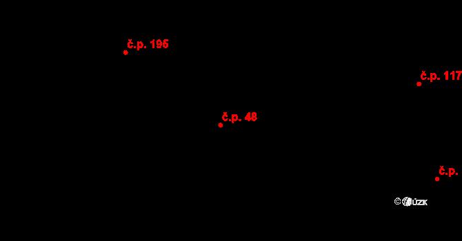 Libhošť 48 na parcele st. 22 v KÚ Libhošť, Katastrální mapa