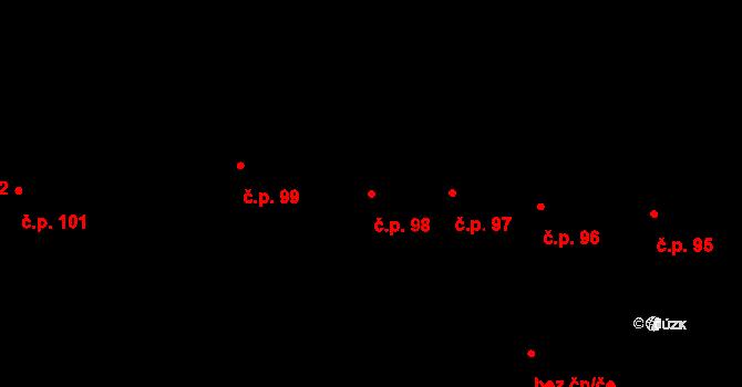 Smečno 98 na parcele st. 719 v KÚ Smečno, Katastrální mapa