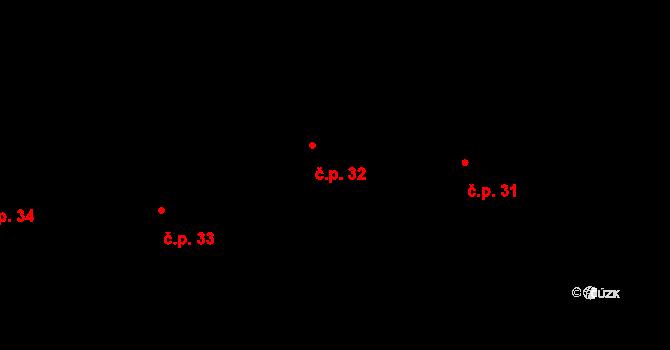 Bohaté Málkovice 32 na parcele st. 23 v KÚ Bohaté Málkovice, Katastrální mapa