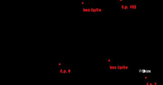 Dolní Pěna 6 na parcele st. 30 v KÚ Dolní Pěna, Katastrální mapa