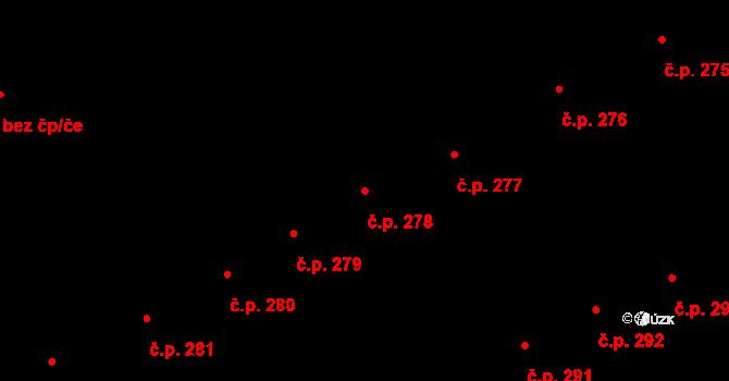 Nový Jičín 278 na parcele st. 318 v KÚ Nový Jičín-Horní Předměstí, Katastrální mapa