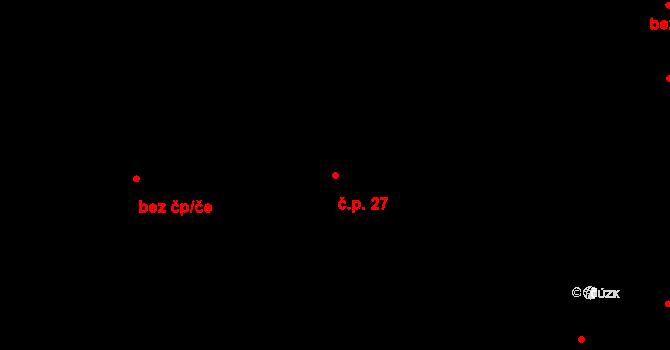 Zábrdovice 27, Brno na parcele st. 538/1 v KÚ Zábrdovice, Katastrální mapa