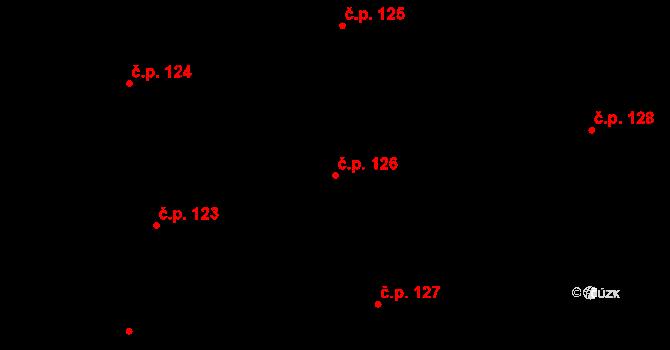 Staré Hodějovice 126 na parcele st. 328/28 v KÚ Staré Hodějovice, Katastrální mapa