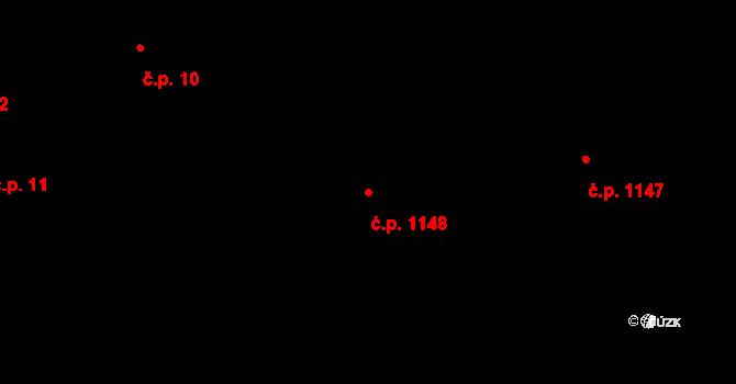 Frýdek 1148, Frýdek-Místek na parcele st. 2983/1 v KÚ Frýdek, Katastrální mapa