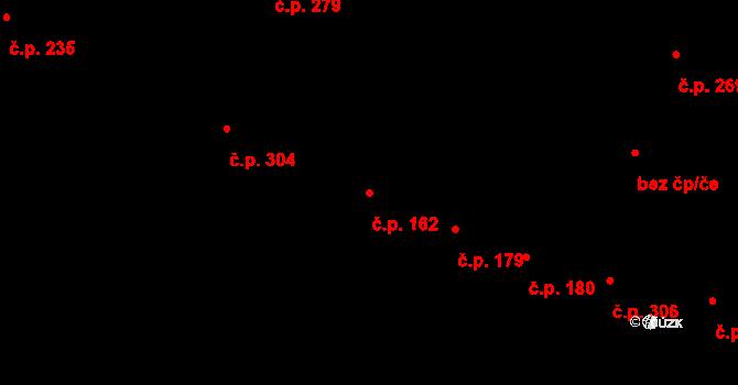 Cheb 162 na parcele st. 1149/1 v KÚ Cheb, Katastrální mapa
