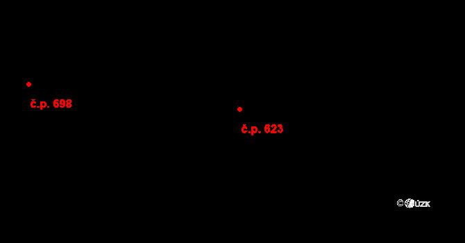Jinonice 623, Praha na parcele st. 764/212 v KÚ Jinonice, Katastrální mapa