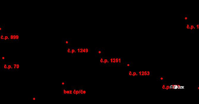 Žižkov 1251, Praha na parcele st. 393 v KÚ Žižkov, Katastrální mapa